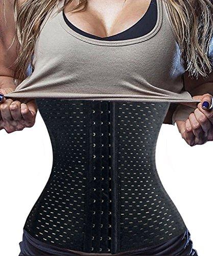 FUT 2017 Hot Fashion Waist Trainer Long Torso Body Shaper Tummy Fat Burner for Women Weight Loss Black