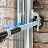ALLEGRA Sicherungsstange für die Fenstersicherung und Türsicherung, Einbruchschutz für Fenster und Türen (0,65m - 1,15m, Weiß)