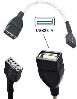 USB 9ピン、マザーボードケーブル 9ピン 1ポート USB 2.0 メスポート デュアル データ転送、USB 2.0パネルマウント型変換ケーブル