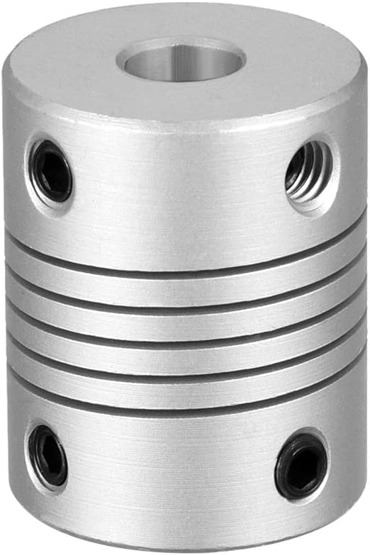 uxcell 6mm to 6.35mm Aluminum Coupling sold out Shaft Alloy Flexible Shipping included Coup
