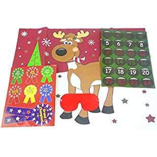 Pin the Nose on the Reindeer Party Game Set:Seks-irani