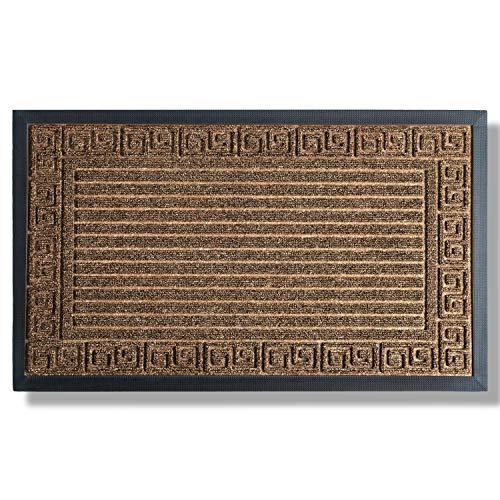 Extra Durable Door Mat Inside/Outdoor - Non-Slip Indoor Door Mat (29,5 x 17) - Easy Clean Front/Back Door mat - Rubber Doormat Indoor - Waterproof Entrance Mat - Indoor Floor Mat - Entryway Rug