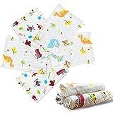 YiWeel Pañales de gasa, 35 x 50 cm, pañales de tela de algodón, 8 unidades, 100% algodón