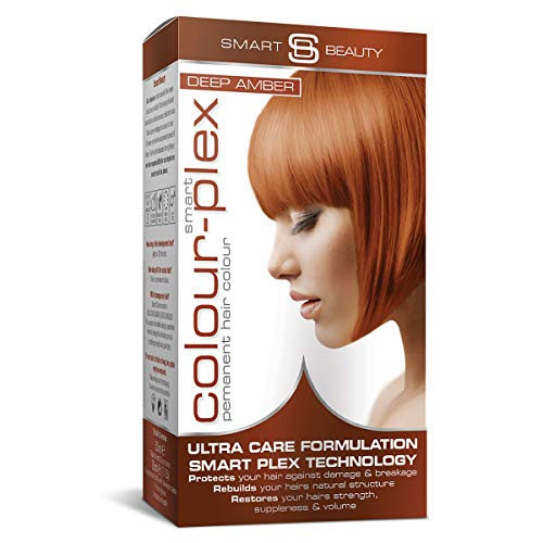 Deep Amber Copper Hair Dye | PPD free Permanent copper hair color | Copper home hair coloring kit | Vegan hair dye | Cruelty free | Smart Beauty hair colors + Smart Plex anti-breakage technology