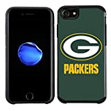 Prime Brands Group Cell Phone Case for Apple iPhone 8/ iPhone 7/ iPhone 6S/ iPhone 6 - NFL Licensed Green Bay Packers Textured Solid Color (NFL-TX1-i8-PAKS)