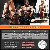Grebarley Fitness Handschuhe,Trainingshandschuhe,Gewichthebehandschuhe für Krafttraining,Bodybuilding,Sporthandschuhe für Damen und Herren(Schwarz, M) - 6