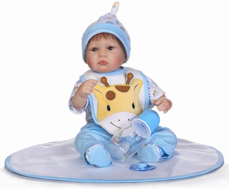 HOOMAI Look Nette Echte Silikon Weiche 17 Zoll Reborn Babypuppe Lebensechte 42 cm Baby Doll Toddler Junge Geburtstagsgeschenk