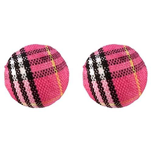 JOE COOL Stud Earring Tartan Ball Bead Made with Acrylic