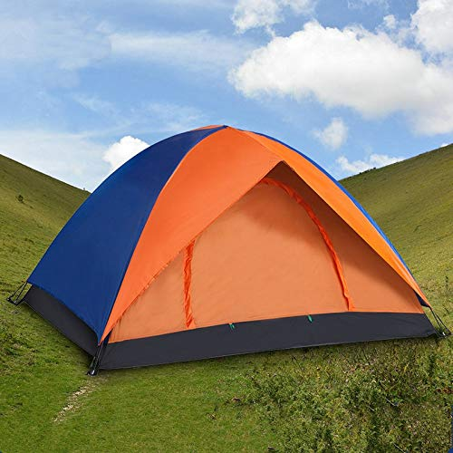 YMSWTF Outdoor 2 Person Travel Camping Tent 200 * 140 * 110cm Double Layer Waterproof Large Space Tent Fishing Hanting Beach Tent