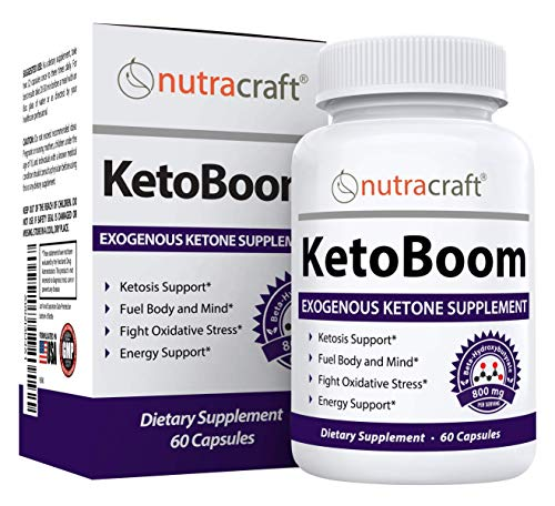 KetoBoom #1 Exogenous Ketones Diet Pills | Burn Fat for Energy with Ketosis | Keto BHB Salts Boost Energy and Support Weight Loss | Best Ketone Supplement for The Ketogenic Diet | 60 Capsules