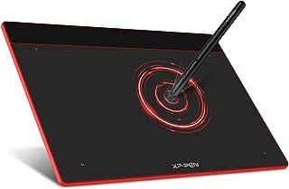XP-Pen ペンタブレット Lサイズ ペンタブ Chromebook 対応 板タブ 充電不要ペン イラスト 入門用 OSU!ゲーム用 Windows Mac Androidに対応 Deco Fun L カーミンレッド