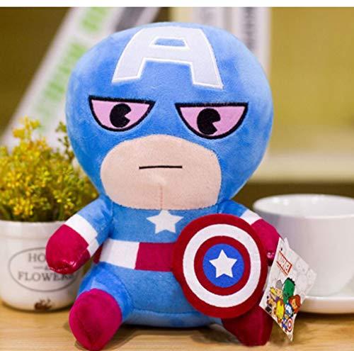 Hanyyj Peluche Marvel Avengers 4 Superhero All Staff Dolls Capitán América Ironman Iron Man Spiderman Loki Peluche Peluche 25 Cm