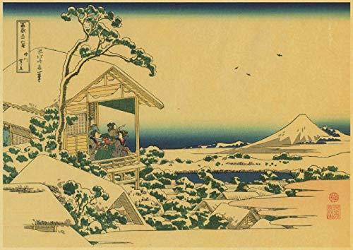 Rompecabezas de 1000 piezas para adultos y niños Ukiyoe decoración regalos decoración decoración T10 29.5 x 19.6 pulgadas (75 x 50 cm) rompecabezas de descompresión intelectual sin marco