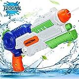 Ucradle Wasserpistole Spielzeug, 1200ML Wasserpistolen groß mit 8-10 Meter Reichweite für Kinder...