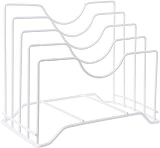 SimpleLife Soporte para Estante con Tapa de Olla de Hierro, Soporte para Bastidor de Almacenamiento y Organizador Bandeja para portaequipajes Soporte para bastidores - Accesorios de Cocina versátiles
