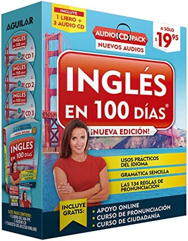 Ingl s en 100 d as Curso de Ingl s Audio Pack Libro 3 CD s Audio English in 100 Days Audio Pack product image