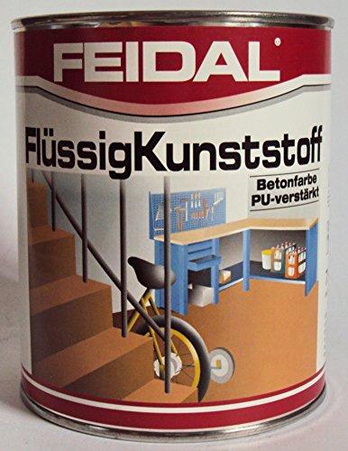 Feidal Flüssigkunststoff, zum Versiegeln und Beschichten von Betonböden, Farbton: Anthrazitgrau RAL 7016 / 2,5 Liter