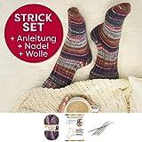 Socken Strick-Set für Anfänger aus 1 Knäuel Lieblingsfarben Sockenwolle