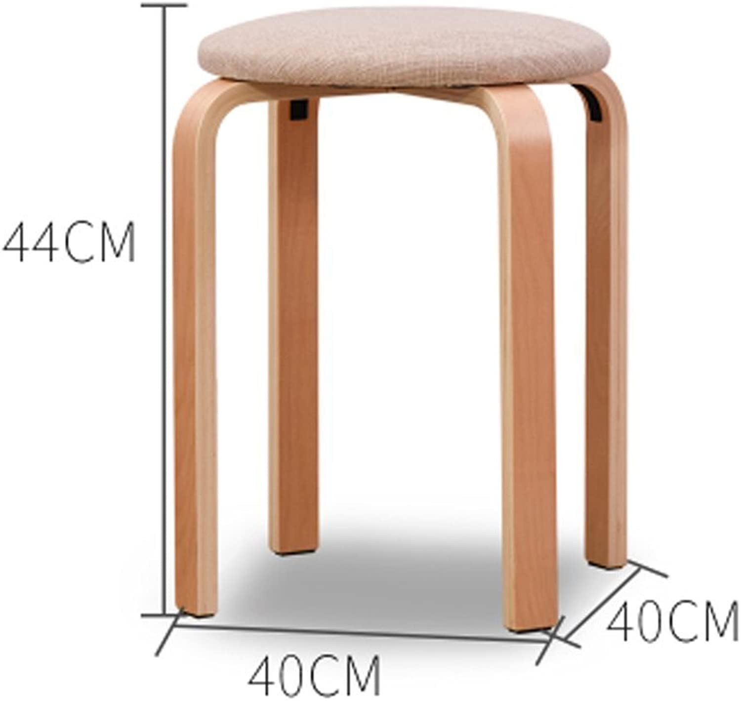 Solid Wood Stool Home Bench Fashion Creative Table Stool Adult Simple shoes Stool Wooden Stool(40x40x44cm) 0522A (color   White)