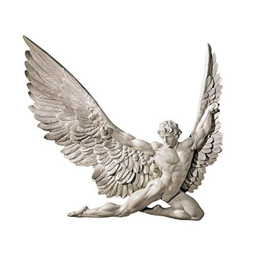 Design Toscano NG33636 Scultura da Parete di Icarus, Avorio, 4x28x28 cm