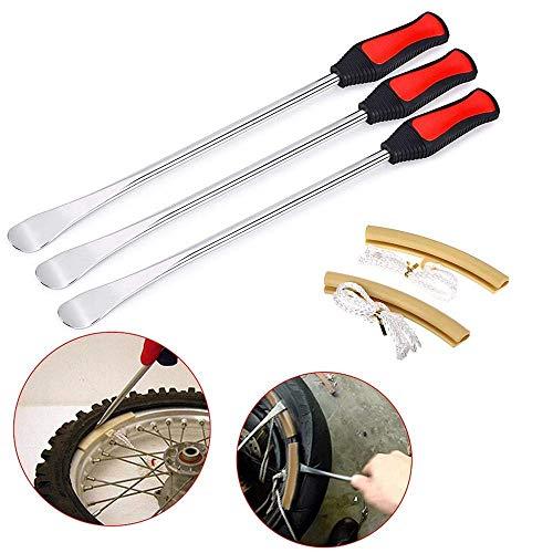 3-delad däckspak, däckspakverktyg, däcksked hjul fälg 2 st skyddsverktygssats för motorcykel cykeldäck #LTBHT gUL