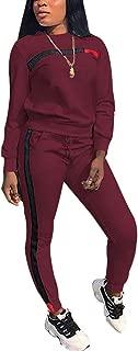 Women Sport Suits Active Top Bottom Sets Sweatshirt Pant 2 Piece Outfits