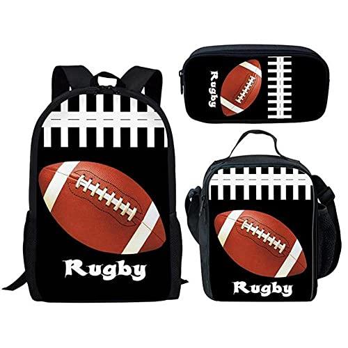 MCFUH Set di Zaini Per la Stampa Della Palla Sportiva Per Adolescenti,Donne Uomini Ragazzi Ragazze Bambini Sacchetti di Scuola In Poliestere