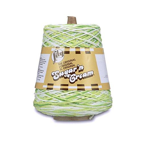 Lily Sugar'n Cream Cotton Cone Yarn, 14 oz, Key Lime Pie Ombre, 1 Cone