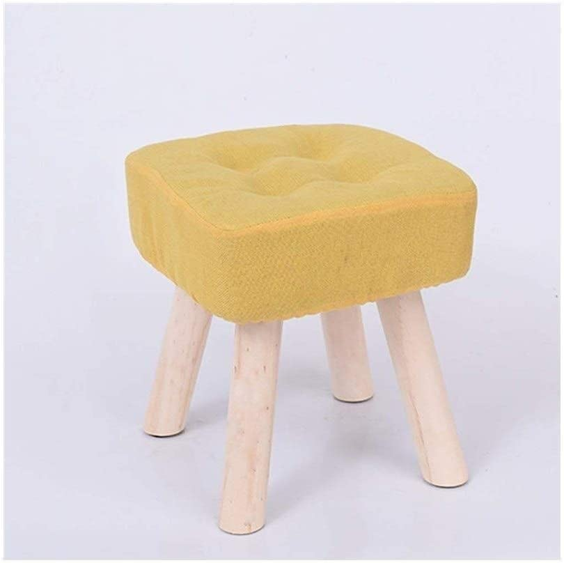 Directly managed store AINIYF Solid Wood Max 40% OFF Footstool Low Washabl Fabric Stool Small Bench