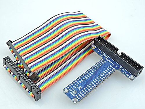 Sintron] 40 Pin GPIO Extension Board with 40 Pin Rainbow Color Ribbon Cable for Raspberry Pi 1 Models A+ and B+, Pi 2 Model B, Pi 3 Model B and Pi Zero