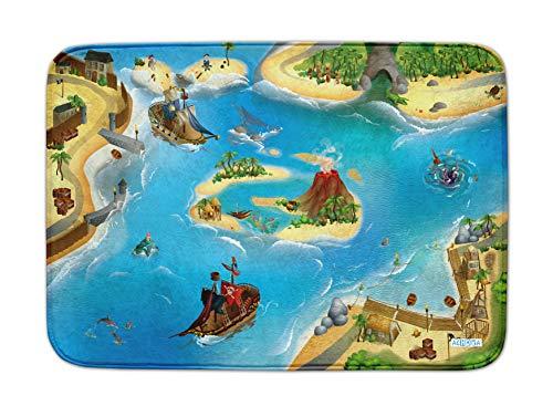 Achoka- Tapis de Jeux, Pirate, 80 x 150 cm