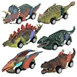 Hayder 6 Pack Dinosaur Toy Pull Back Cars, Dino Toys for 3 Year Old Boys and Toddlers, Boy Toys Age 3,4,5,6 and Up, Festival or Birthday Gifts for Kids Boys
