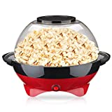 LAHappy Popcorn Maker, Electric Popcorn Maker Machine 2 in 1 lid Bowl for Healthy Less Fat Popcorn, 850W