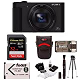 Sony Cyber-Shot HX80 Compact Camera with Batteries and 32GB Accessory Bundle (4 Items)