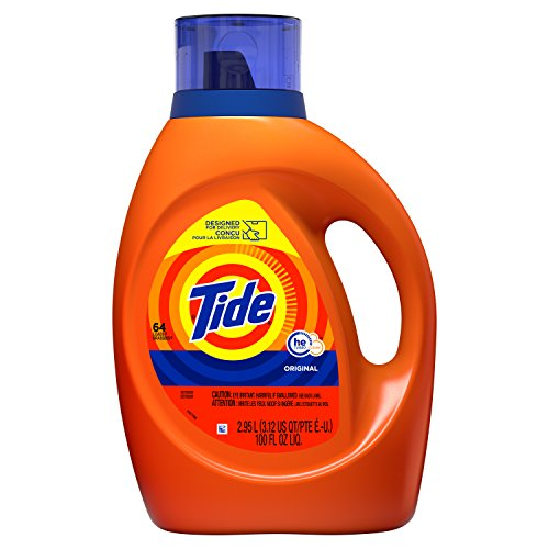 Tide Laundry Detergent Liquid, Original Scent, HE Turbo Clean, 100 oz, 64 Loads for $8.99