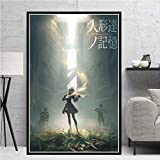 KWzEQ Game Girl Japanese Anime Manga Oil Canvas Painting Poster Print Mural Living Room Decoración del hogar60X90cmPintura sin Marco