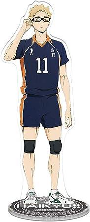 SOSPIRO Haikyuu Acrilico Figura 15cm Anime Vinile Figura Action Figure da Collezione Figura Modello Giocattolo Stile 01 Modello Stand Figura