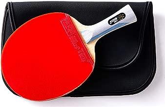 JWD HOME Paddle Profesional De Tenis De Mesa 6 Estrellas - Paleta De Ping Pong con Estuche De Transporte - Goma Aprobada para Juego En Torneos