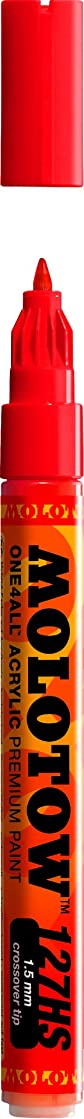 Molotow ONE4ALL Acrylic Paint Marker, 1.5mm, Traffic Red, 1 Each (127.402)