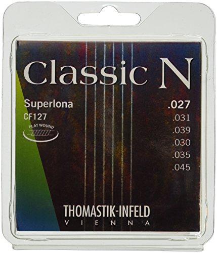 Thomastik Cuerdas para Guitarra Clásica Classic N Series juego Superlona Light CF127 entorchado plano