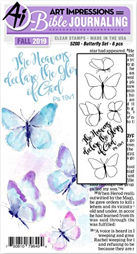 ART IMPRESSIONS WATERCOLOR STAMP BUTTERFLY