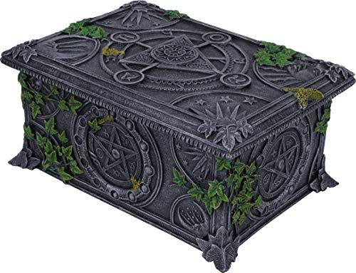 Nemesis Now Wiccan Tarotbox Pentagramm, 11 cm, Schwarz