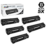 LD Compatible Toner Cartridge Replacement for Canon 125 (Black, 5-Pack)