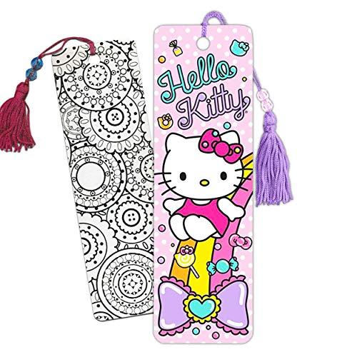 Hello Kitty Bookmark Bundle Hello Kitty School Supplies ~ 2 Kids Bookmarks Featuring Hello Kitty | Hello Kitty Party Favors (Hello Kitty Merchandise)