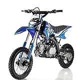 125cc Dirt Bike Pit Bike Adults Dirt Bikes Pit Bikes Youth Dirt Pitbike 125 Dirt Bike,Blue