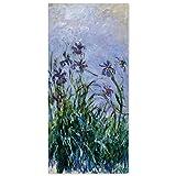 JUNIWORDS Poster, Claude Monet, Iris, 40 x 83 cm