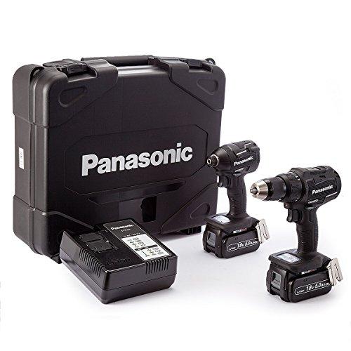 Panasonic EYC217LJ2G31 PANC217LJ2G 14.4V/18V Hammer/Impact Driver Twinpack (2 x 5.0Ah), 18 V