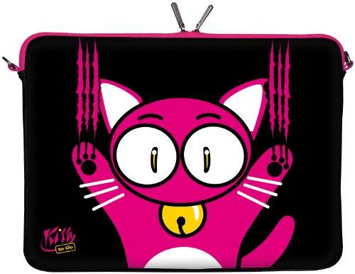 Kitty TO GO Designer Laptop Sleeve Envelop Carry Case Wet 25.91 cm/29.46 cm/33.78 cm/39.62 cm/43.94 cm LS140 11.6 Zoll
