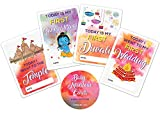 Hindu Baby Milestone Tarjetas con caja de recuerdo, 30 tarjetas unisex con hindúes especiales, regalo perfecto para baby shower