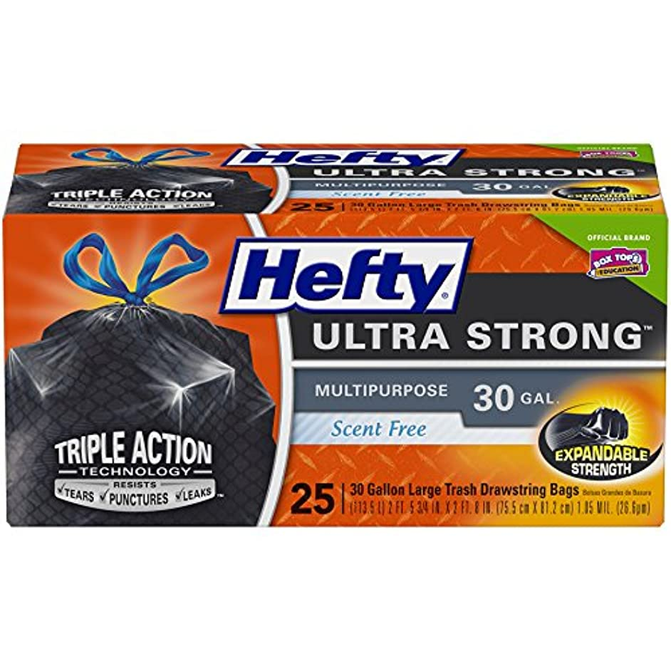 Hefty Ultra Strong Multipurpose Large Black Trash Bags - 30 Gallon, 25 Count